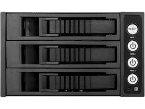"""iStarUSA BPU-230HD-BLACK 2 x 5.25"""" to 3 x 3.5"""" 2.5"""" 12Gb/s HDD SSD Hot-swap Rack"""