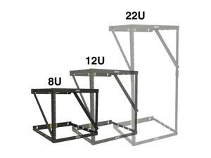 Tripp Lite Wall-Mount 2-Post Open Frame Rack, 8U / 12U / 22U Expandable Low-Profile Switch-Depth (SRWO8U22)