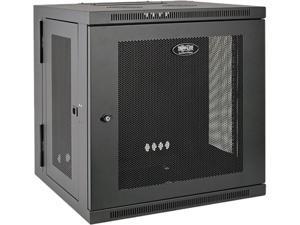 Tripp Lite SmartRack 12U UPS-Depth Wall-Mount Rack Enclosure Cabinet, Hinged Back