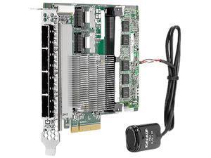 HP Smart Array P822 PCI-Express 3.0 x8 SAS 2GB FBWC 2-ports Int/4-ports Ext SAS Controller