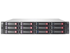 "HP StorageWorks P2000 G3 BK830B RAID 0, 1, 3, 5, 6, 10, 50,JBOD 12 3.5"" Drive Bays 1 GbE iSCSI (4) Ports per controller SAN Array"