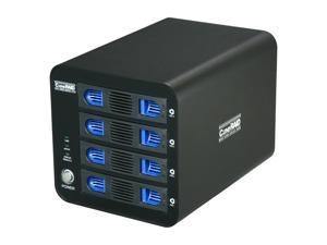 "CineRAID CR-H458 Hardware RAID 0, 1, 10, 3 and RAID 5, Support 4 x 3.5"" Hot Swappable Drive Bays USB 3.0 eSATA RAID SubSystem"