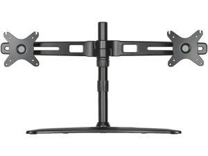 """Doublesight Dual Monitor Stand Accommodates Up To 27"""" Monitors"""