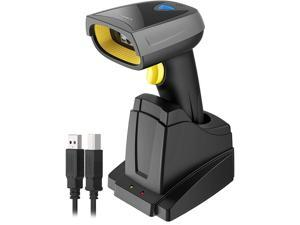 Inateck Barcode Scanner, QR Code Scanner with Smart Base, 2D, Wireless, Bluetooth, Read Screen, BCST-52 Black