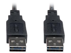 TRIPP LITE UR020-003 Reversible USB Cable,Black,3 ft.