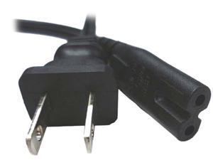 Notebook Power Cord - Figure 8 Style - 6 Feet - IEC 320 C7 to NEMA 1-15P