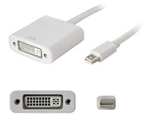 AddOn MDISPLAYPORT2DVIW AddOn 20.00cm (8.00in) Mini-DisplayPort Male to DVI-I (29 pin) Female White Adapter Cable - 100% compatible with select devices.