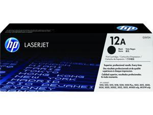 HP 12A LaserJet Toner Cartridge - Black