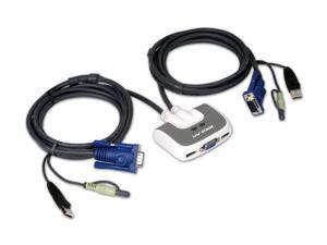 IOGEAR GCS632U  2-Port KVM Switch with built-in KVM Cables and Audio Support (US packaging version)