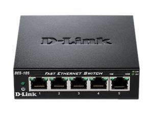 D-Link DES-105 5 Port 10/100 Unmanaged Metal Desktop Switch