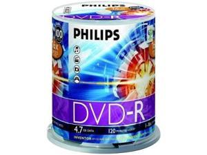 PHILIPS 4.7GB 16X DVD-R 100 Packs Disc Model DM4S6B00F/17