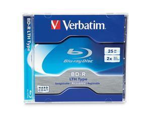 Verbatim 25 GB 2X BD-R LTH Single Jewel Case Disc (use w/LTH Compat Drive) 96569