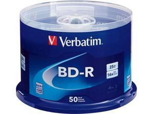 Verbatim 25GB 6X BD-R 50 Packs Disc Model 98397