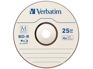 Verbatim M-DISC BD-R 25GB 4X with Branded Surface - 5pk Jewel Case Model 98900