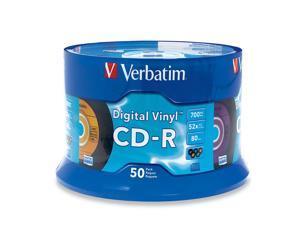 Verbatim Digital Vinyl 700MB 52X CD-R 50 Packs Disc Model 94587