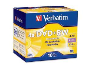Verbatim DataLifePlus 4.7GB 4X DVD+RW 10 Packs Disc Model 94839