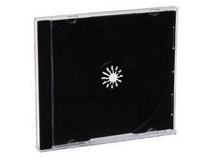 Verbatim 94867 CD/DVD Jewel Storage Cases-Black Tray 200pk