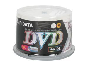 Ritek 8.5GB 8X DVD+R DL Inkjet Printable 50 Packs Disc Model DRD+858-RDIWN-CB50
