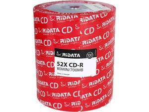 RiDATA 700 MB 52X CD-R 100 Packs Disc Model R80JS52-RDF100