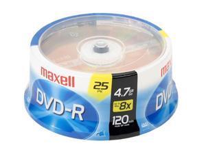 maxell 4.7GB 8X DVD-R 25 Packs Disc Model 635052