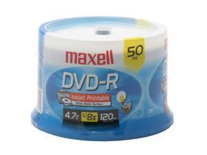 maxell 4.7GB 8X DVD-R Inkjet Printable 50 Packs Disc Model 635129