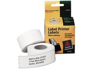 "Multi-purpose Labels, 3-1/2""x1-1/8"", 130/Roll,2 RL/BX, White AVE4150"