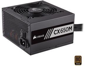CORSAIR CX-M Series CX650M 650W 80 PLUS BRONZE Haswell Ready ATX12V & EPS12V Semi-Modular Power Supply
