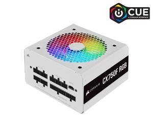 CORSAIR CX-F RGB Series CX750F RGB White 750W 80 PLUS Bronze Fully Modular ATX Power Supply, CP-9020227-NA