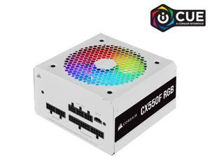CORSAIR CX-F RGB Series CX550F RGB White 550W 80 PLUS Bronze Fully Modular ATX Power Supply, CP-9020225-NA