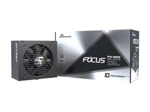 Seasonic FOCUS PX-650, 650W 80+ Platinum Full-Modular, Fan Control in Fanless, Silent, and Cooling Mode, 10 Year Warranty, Perfect Power Supply for Gaming and Various Application, SSR-650PX.