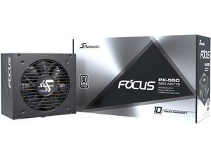 Seasonic FOCUS PX-550, 550W 80+ Platinum Full-Modular, Fan Control in Fanless, Silent, and Cooling Mode, 10 Year Warranty, Perfect Power Supply for Gaming and Various Application, SSR-550PX.