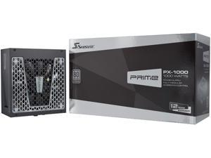 Seasonic PRIME PX-1000, 1000W 80+ Platinum, Full Modular, Fan Control in Fanless, Silent, and Cooling Mode, 12 Year Warranty, Perfect Power Supply for Gaming and High-Performance Systems, SSR-1000PD.