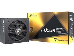Seasonic FOCUS GM-750, 750W 80+ Gold, Semi-Modular, Fits All ATX Systems, Fan Control in Silent and Cooling Mode, 7 Year Warranty, Perfect Power Supply for Gaming and Various Application, SSR-750FM