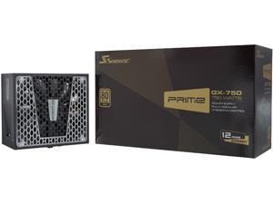 Seasonic PRIME GX-750, 750W 80+ Gold, Full Modular, Fan Control in Fanless, Silent, and Cooling Mode, 12 Year Warranty, Perfect Power Supply for Gaming and High-Performance Systems, SSR-750GD2.
