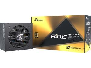 Seasonic FOCUS GX-1000, 1000W 80+ Gold, Full-Modular, Fan Control in Fanless, Silent, and Cooling Mode, 10 Year Warranty, Perfect Power Supply for Gaming and Various Application, SSR-1000FX.