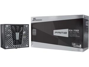 Seasonic PRIME PX-750, 750W 80+ Platinum, Full Modular, Fan Control in Fanless, Silent, and Cooling Mode, 12 Year Warranty, Perfect Power Supply for Gaming and High-Performance Systems, SSR-750PD2.