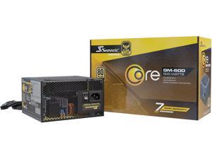 Seasonic CORE GM-500, 500W 80+ Gold, Semi-Modular, Fan Control in Silent and Cooling Mode, Perfect Power Supply for Gaming and Various Application, SSR-500LM