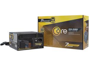 Seasonic CORE GM-550, 550W 80+ Gold, Semi-Modular, Fan Control in Silent and Cooling Mode, Perfect Power Supply for Gaming and Various Application, SSR-550LM