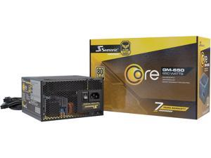 Seasonic CORE GM-650, 650W 80+ Gold, Semi-Modular, Fan Control in Silent and Cooling Mode, Perfect Power Supply for Gaming and Various Application, SSR-650LM