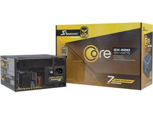 Seasonic CORE GX-550, 550W 80+ Gold Full-Modular, Fan Control in Silent and Cooling Mode, Perfect Power Supply for Gaming and Various Application, SSR-550LX