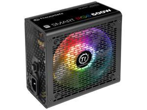 Thermaltake Smart RGB Series 500W SLI/CrossFire Ready Continuous Power ATX 12V V2.3 80 PLUS Certified 5 Year Warranty Active PFC Power Supply Haswell Ready PS-SPR-0500NHFAWU-1