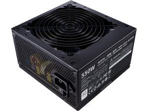 Cooler Master MWE 550 White 550W 80+ White PSU w/ Hydro-Dynamic-Bearing Silent 120mm Fan, Single +12V Rail, Flat Black Cables