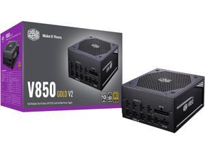 Cooler Master V850 Gold V2 Full Modular, 850W, 80+ Gold Efficiency, Semi-fanless Operation, 16AWG PCIe high-efficiency cables, 10 Year Warranty