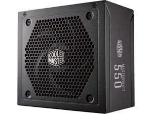 Cooler Master MasterWatt Series MPX-5501-AMAAB-U1 550W ATX 12V V2.4 80 PLUS BRONZE Certified Semi-Modular Active PFC Power Supply