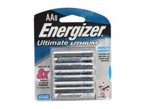 ENERGIZER Ultimate Lithium 1.5V AA Battery, 8-pack