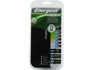 Energizer Recharge Universal Charger Family Size Charger for AA / AAA / C / D / 9V NiMH Batteries - CHFC