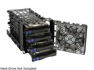 "ICY DOCK Removable 3.5"" HDD 4 in 3 Module Cooler Cage - Black Vortex MB074SP-B"