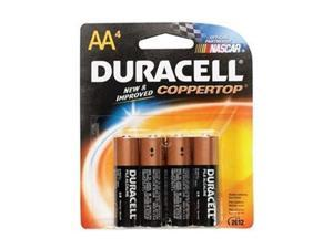 DURACELL CopperTop MN1500 1.5V AA Alkaline Battery, 4-pack