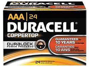 DURACELL Coppertop 1.5V 2100mAh AA Alkaline Battery, 24-pack