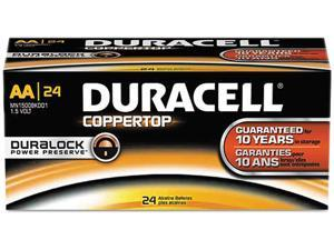 DURACELL Coppertop 1.5V AA Alkaline Battery, 24-box